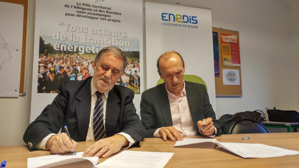 Signature de la convention d'échanges de données avec ENEDIS