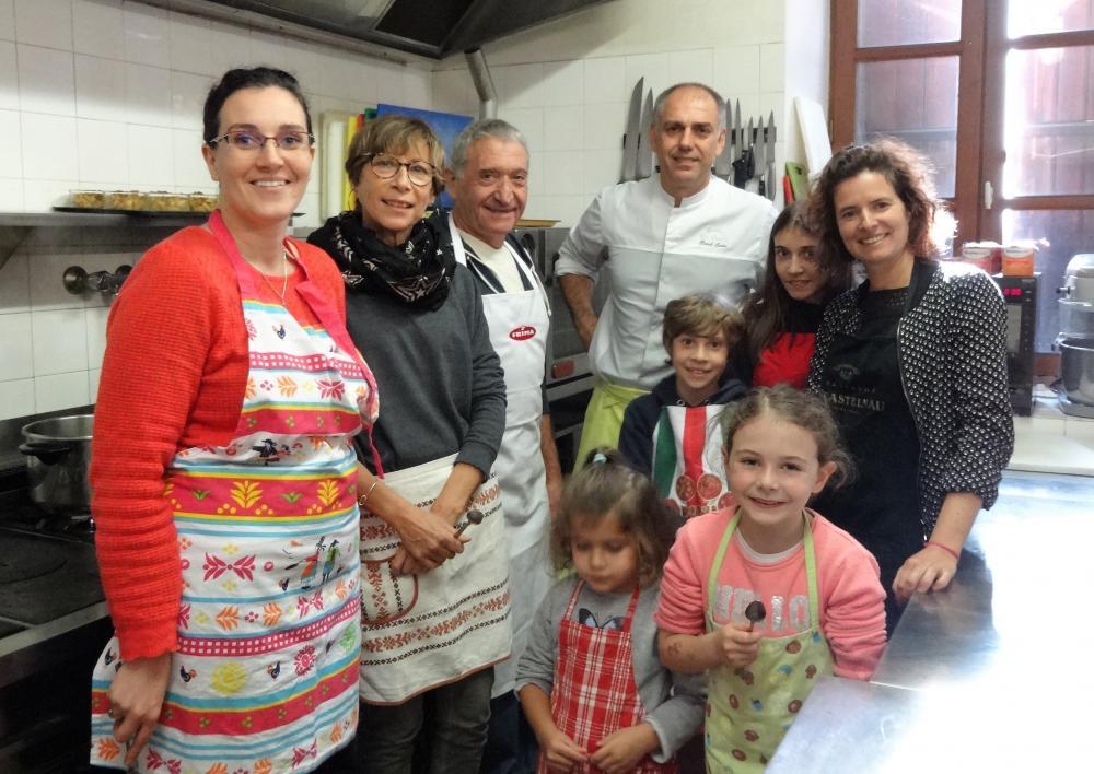Atelier cuisine à l'Hostellerie des Lauriers à Villeneuve sur Tarn