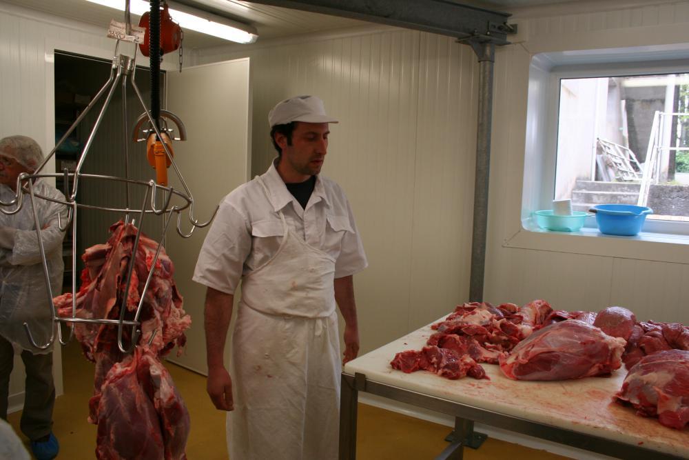 Atelier Frayssines de découpe de viande à Paulinet