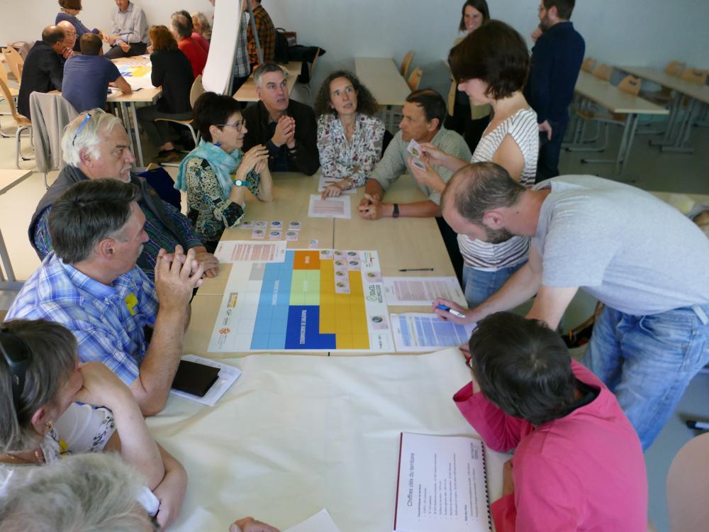 Atelier TEPOS regroupant de multiples acteurs pour définir la stratégie des PCAET