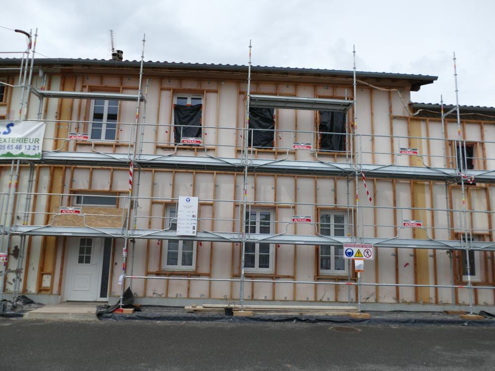 Rénovation de logements communaux au niveau BBC réno sur la commune de Saussenac