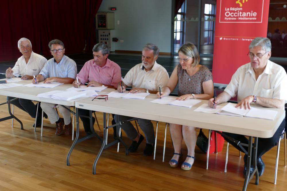 Signature des Contrats Occitanie et Carmaux-Blaye le 18 juillet 2019
