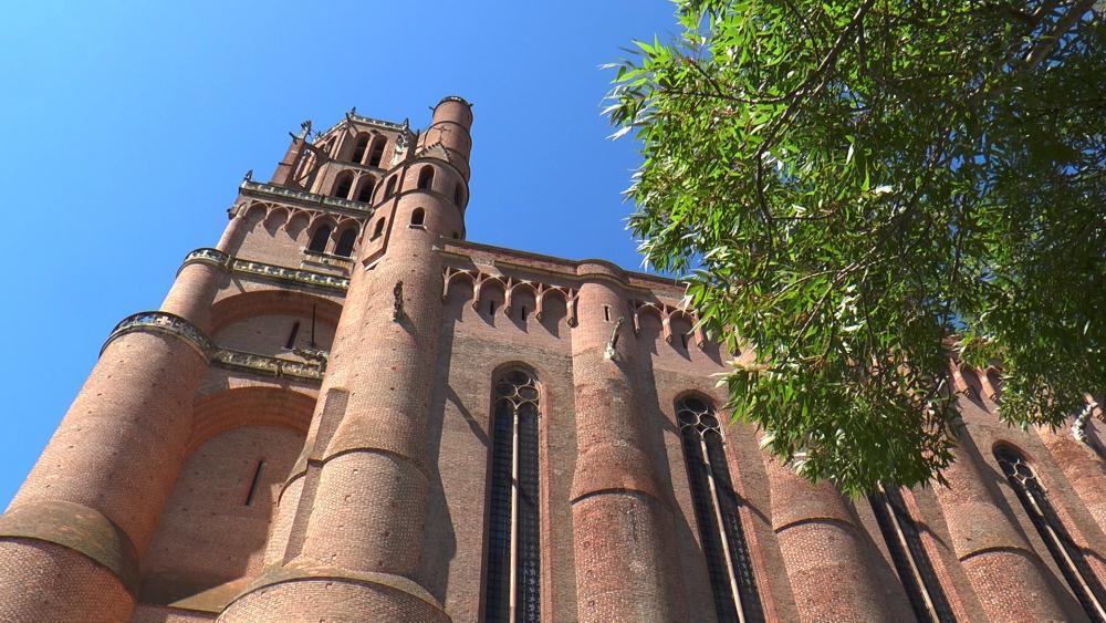 La cathédrale d'Albi, la plus grande cathédrale de brique au monde