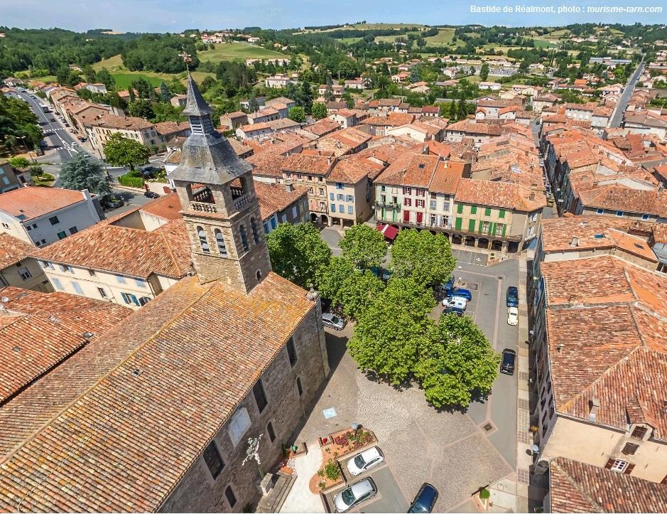 Le bourg-centre de Réalmont