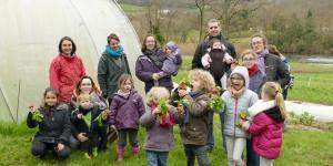 Visite à la ferme dans le défi alimentation locale